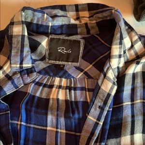 Rails short sleeve button down plaid shirt